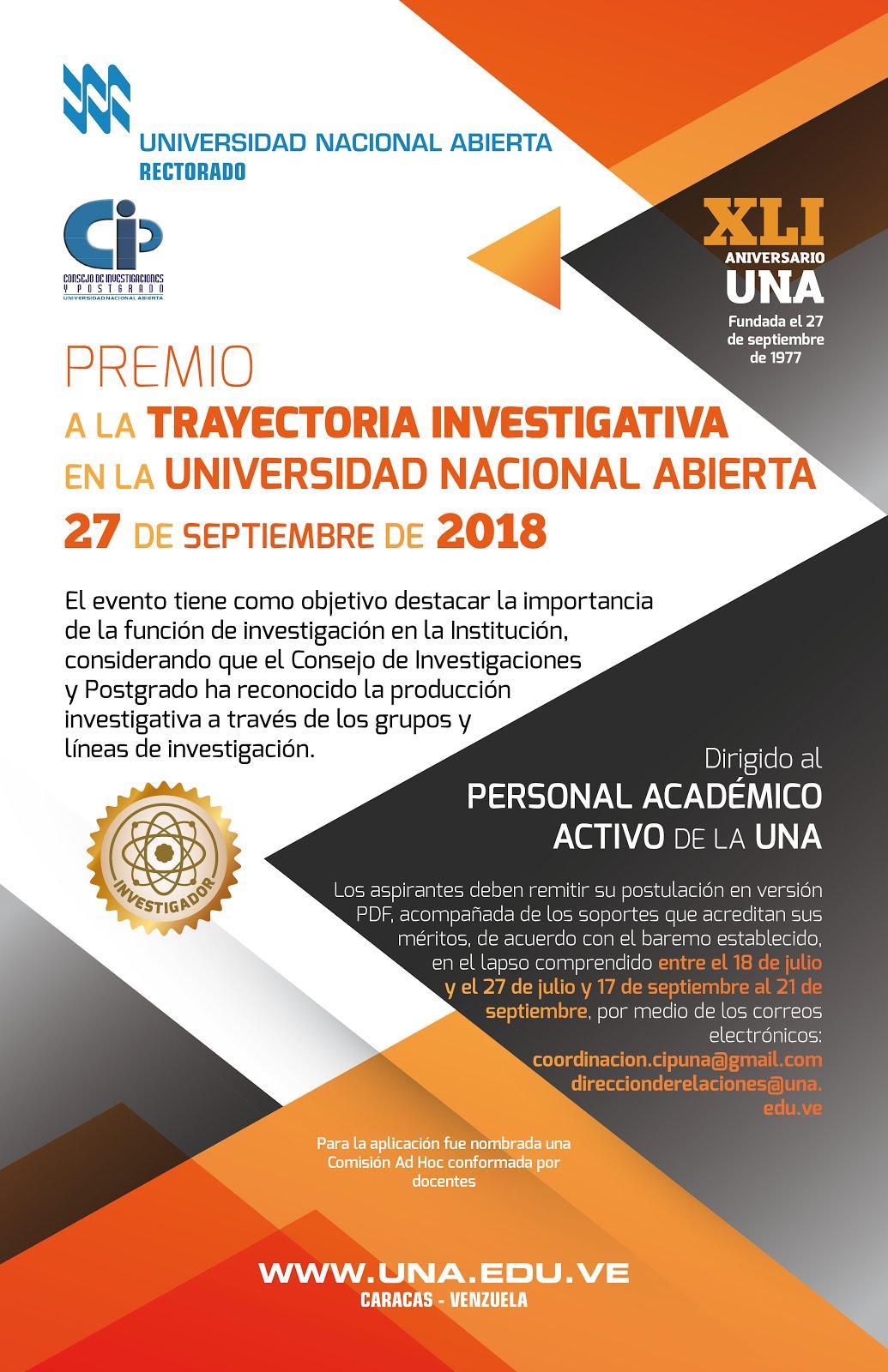 Premio a la Trayectoria Investigativa Año 2018