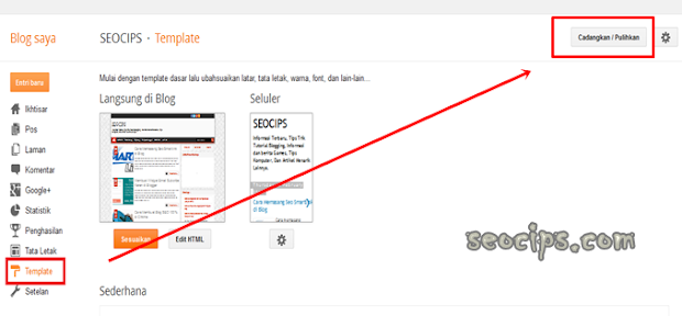 Cara ganti Template Blog di Blogger gambar 1