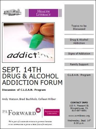 9-14 Drug & Alcohol Addiction Forum