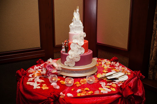 Wedding Cake - Wedding Reception in Trillium Room, Grand Californian Hotel