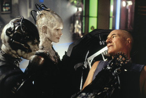 Borg Queen Star Trek First Contact 1996 movieloversreviews.blogspot.com