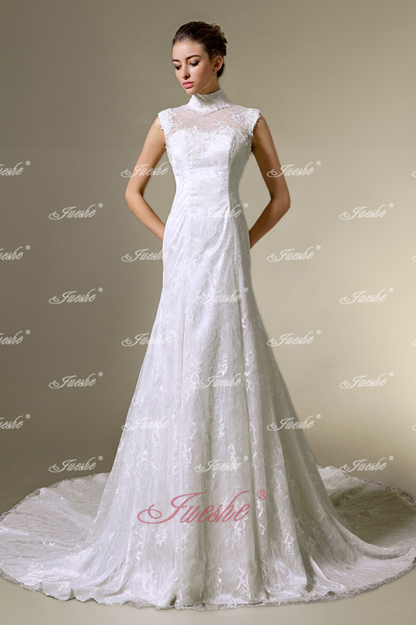 Wedding Dresses With High Neck : For dress ping new trend high neck wedding