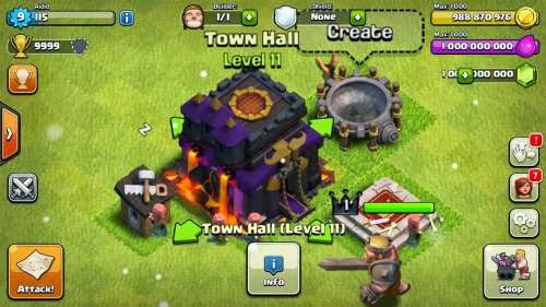 Hack Clash of Clans (COC) v7.1.1 Mod 2015