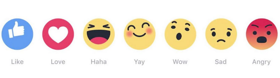 See the 6 latest emoji  joining the Like button on Facebook