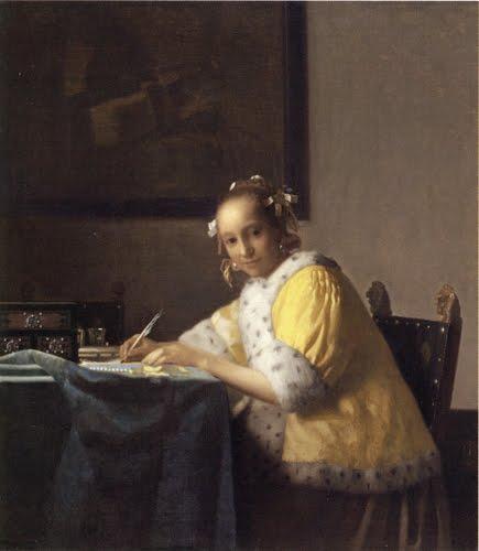 『手紙を書く女』ヨハネス・フェルメール(ワシントン・ナショナル・ギャラ... 帰ってきた江戸絵画