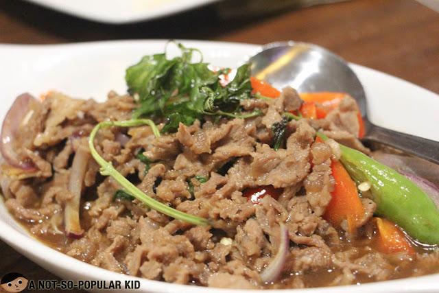 Beef with Basil (Kaprao nua)