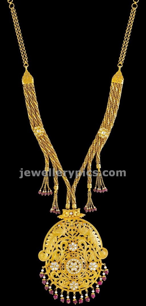 kalyan jewellers antique necklace design