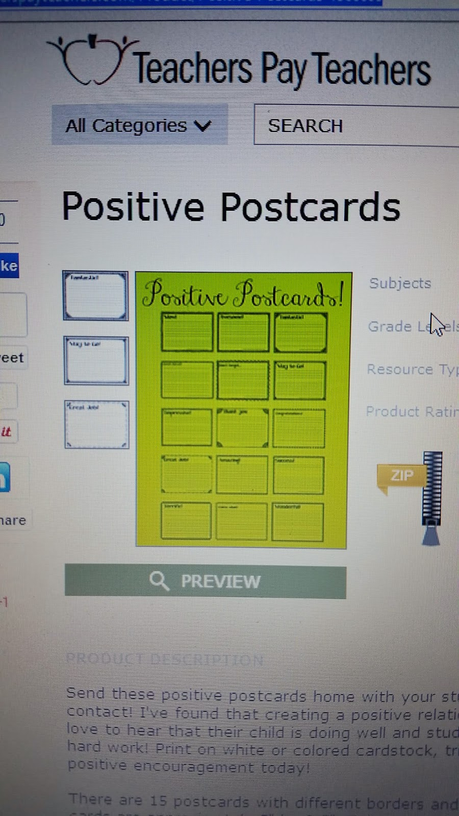 http://www.teacherspayteachers.com/Product/Positive-Postcards-1366609