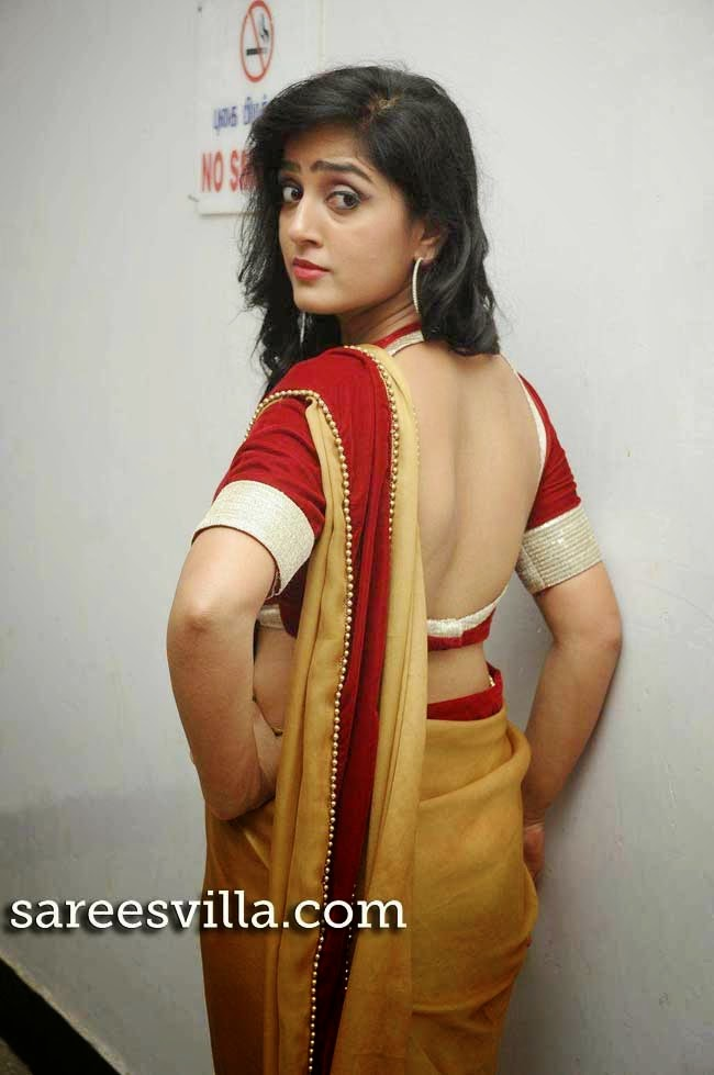 Divya Singh In Backless Blouse
