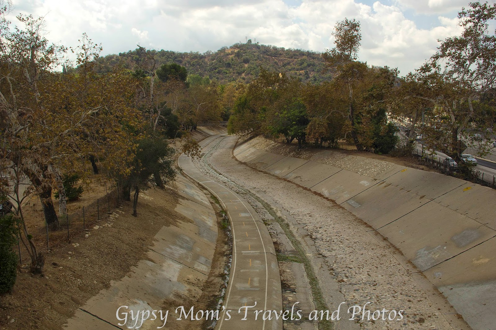 Arroyo Seco means Dry River and there is a bicycle path