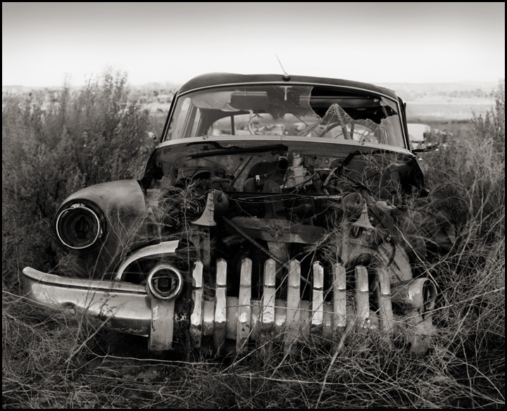 1950 Buick Super - Black and white photography