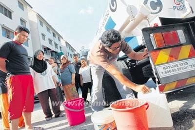 air bantuan dari syabas, tiada air, catuan air