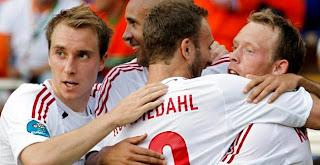 Celebración gol danés