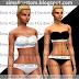 Calvin Klein Underwear Set || Top & Bottom || Female Tops || Female Bottom || The Sims 4
