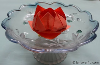 Origami paper lotus, origami tips, paper products