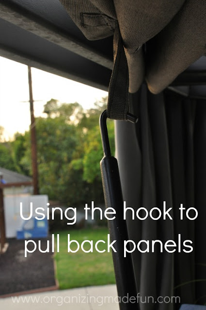 Use hook to pull panels back