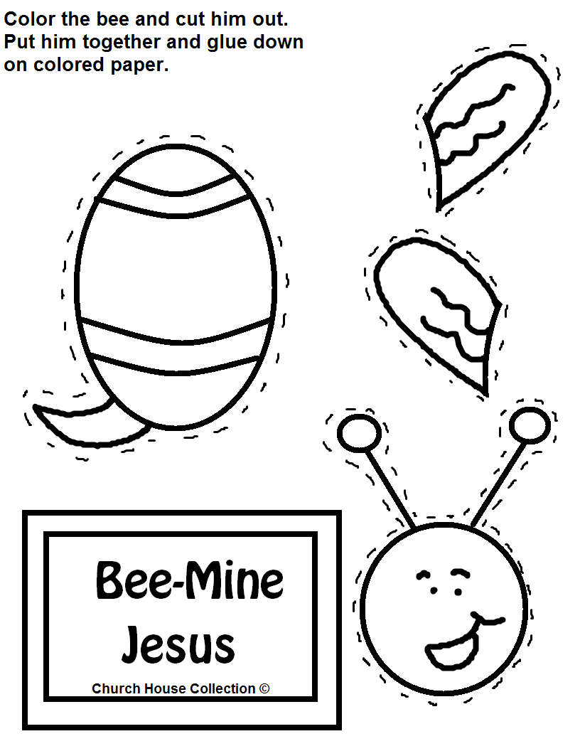 Church House Collection Blog Bee Mine Jesus Cutout Craft