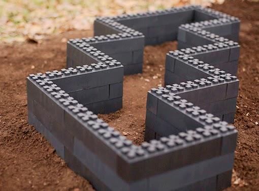 Marzua jardineras hechas con bloques de pl stico reciclado - Jardineras de plastico ...