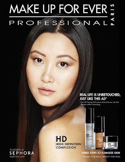 unretouched beauty campaign, make up for ever campaign, HD makeup