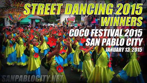 Street Dancing Competition 2015, Winners, San Pablo City, Coco Festival 2015, January 13, 2015