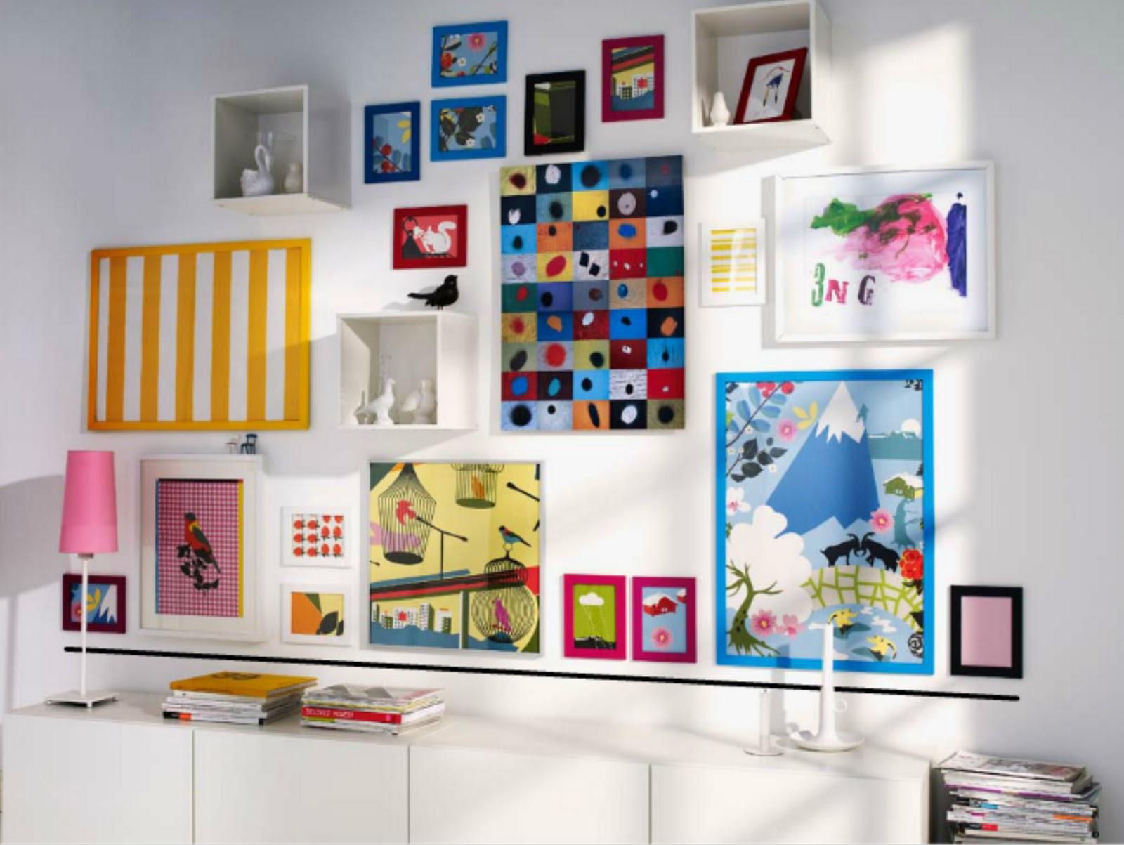 Ikea te ense a c mo colgar los cuadros en las paredes te lo decoro todo - Marcos para cuadros ikea ...