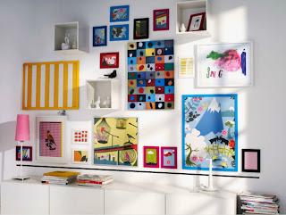 Ikea te ense a c mo colgar los cuadros en las paredes te - Composicion marcos pared ...