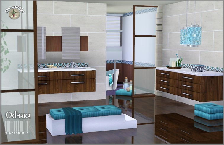 My sims 3 blog updated odhara bathroom set by for Bathroom ideas sims 3