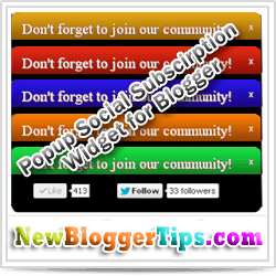 Popup Widget for Blogger