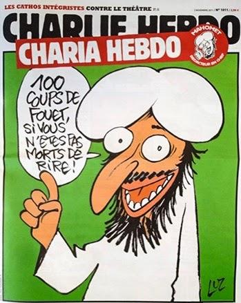 Charlie Hebdo cover, 2011.