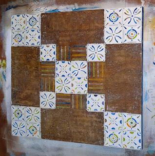 A mesa da Casa de Tereza - Final - 100x100 cms - Acrílica sobre madeira