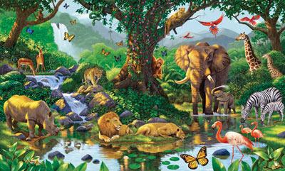 Shrunken giraffe crafts jungle themed nursery nature 39 s for Amazon mural wallpaper