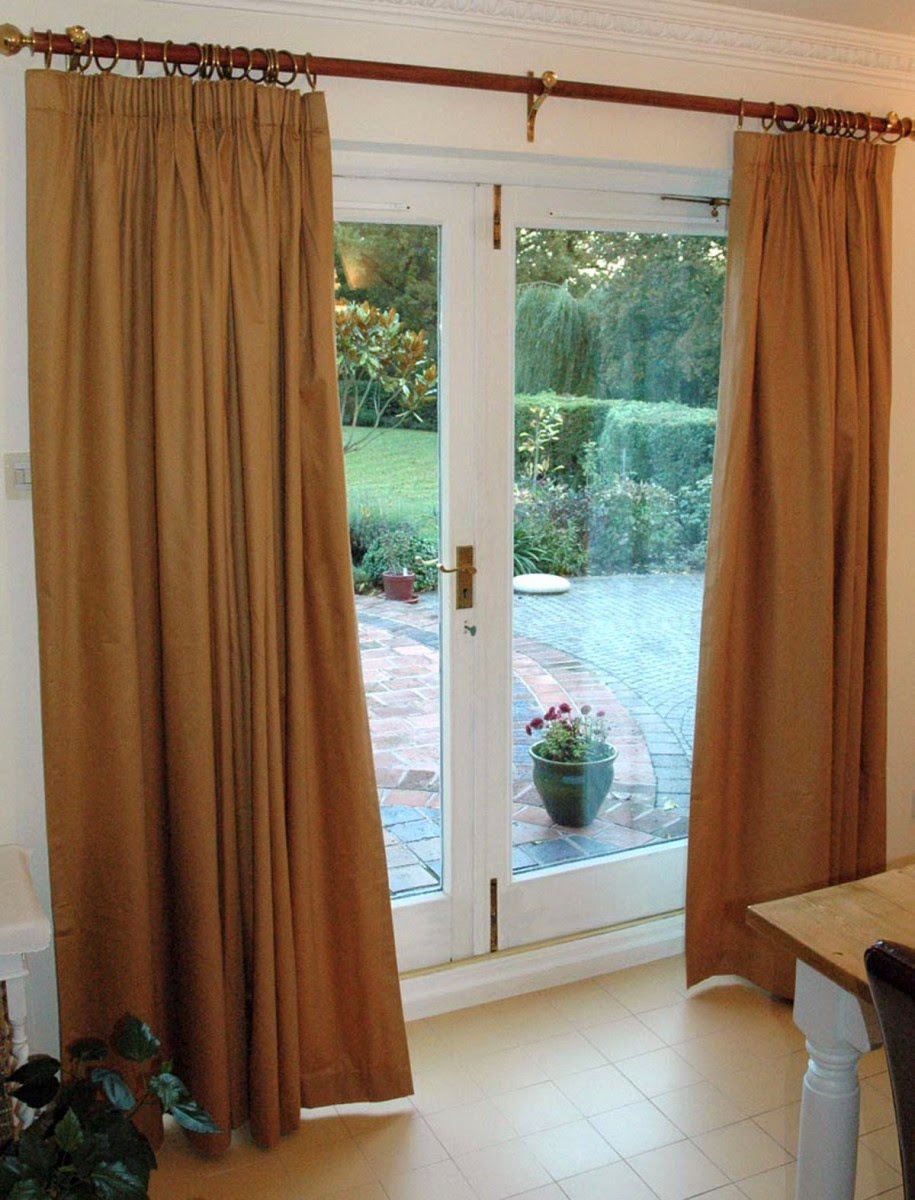 Window treatments for french doors home design ideas and for Curtains for french doors ideas