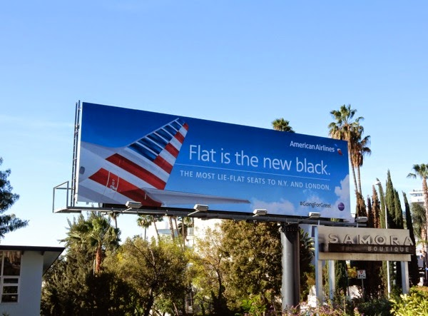 Flat is new black American Airlines billboard