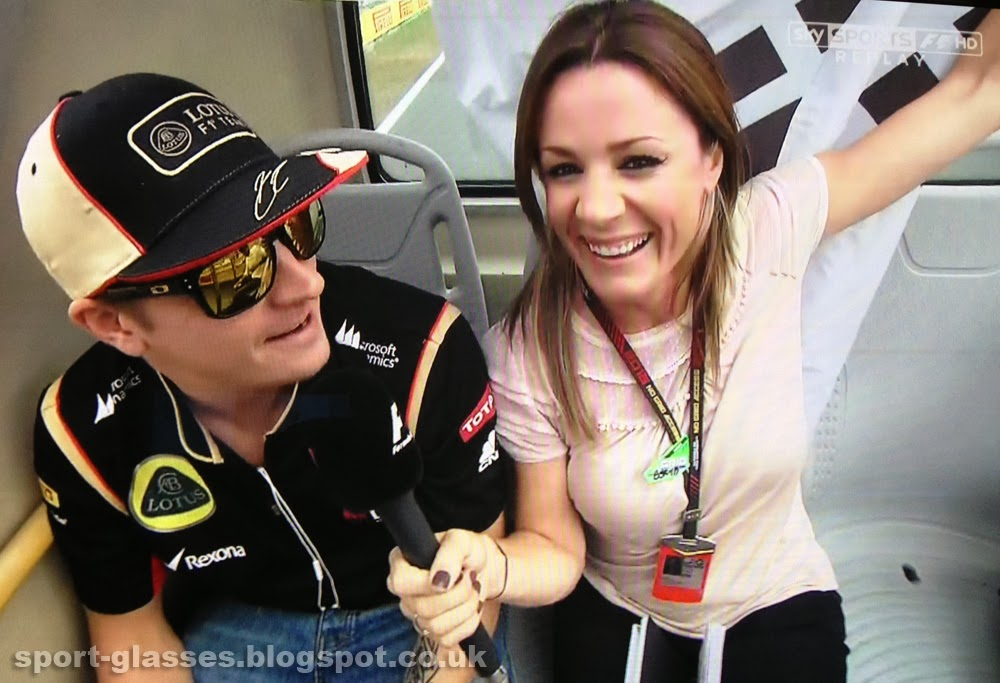 Kimi Raikkonen Wearing Oakley Holbrook Sunglasses at Korean GP 2013 with Natalie Pinkham