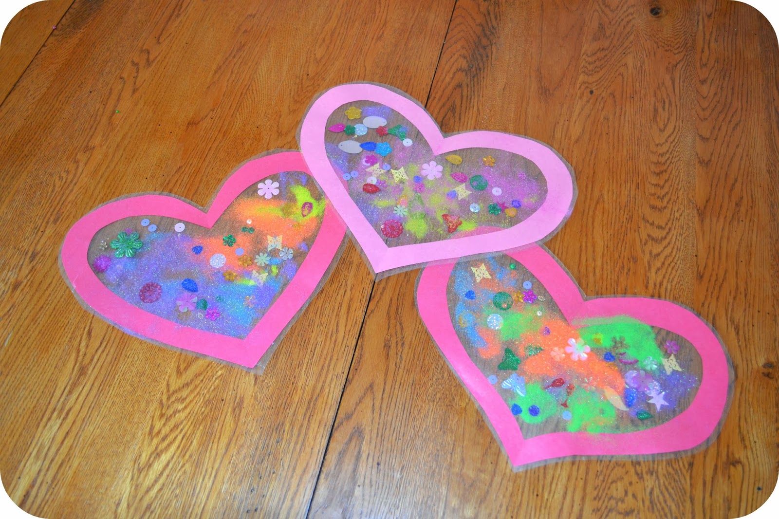 toddler valentines day craft heart suncatcher