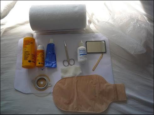 Las cosas que uso para cambiarme la bolsita