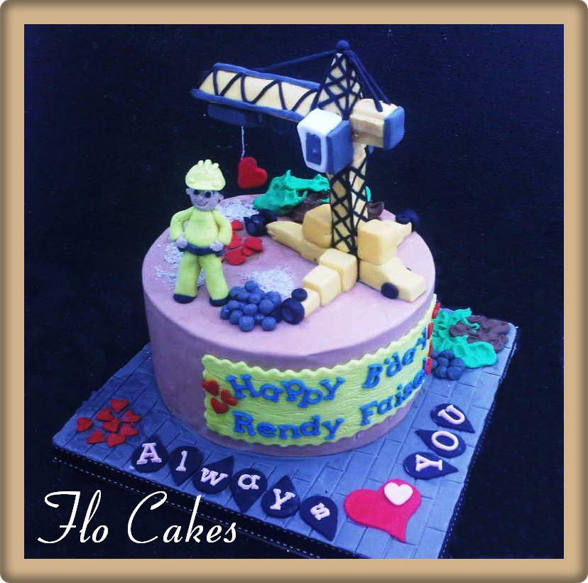 Flo Cakes Crane Birthday Cake For Rendy Faisal