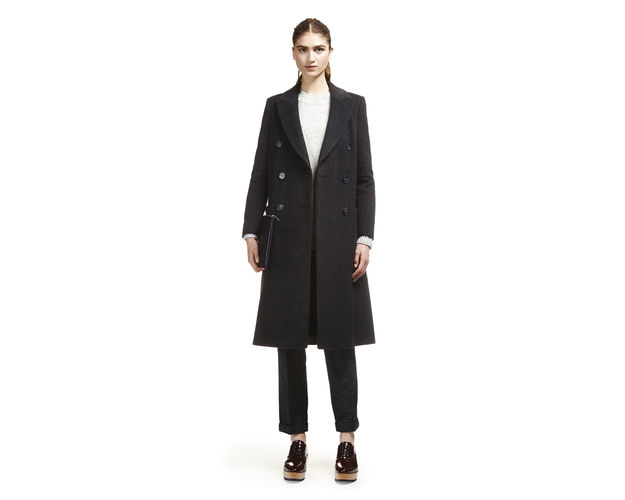 whistles navy wool coat