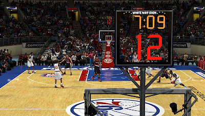 NBA 2K13 Wells Fargo Center Court Patch