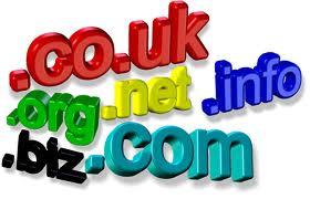 Domain ekstensi dot com, dot net, dot org, dot info