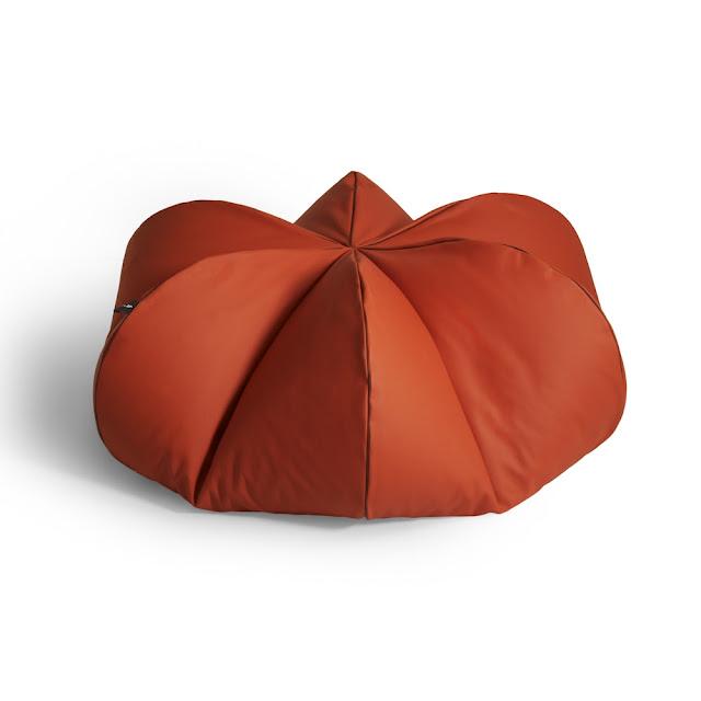 Leather Beanbag Oranger