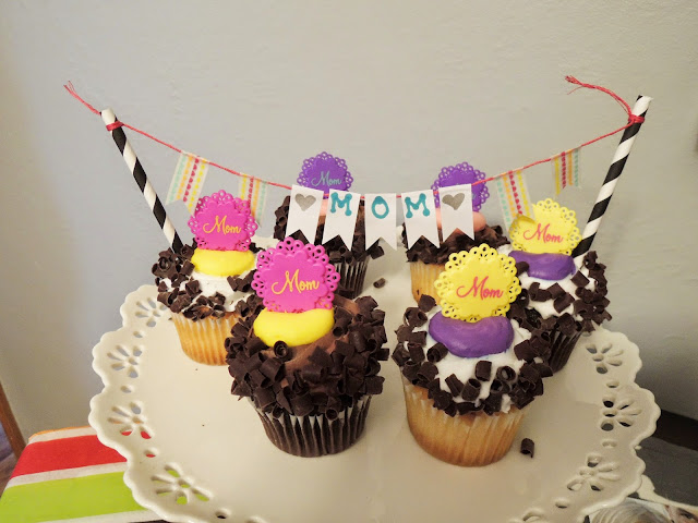 DIY cupcake banner