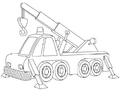 Desenhos Preto e Branco Caminhões caçamba agua lavoura mudança guincho Colorir