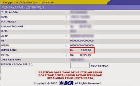 Biaya Admin Bayar Tagihan Listrik PLN BCA