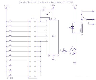Enjoyable Combination Lock Using Cd4013 Simple Electronic Circuit Diagram Wiring Digital Resources Honesemecshebarightsorg