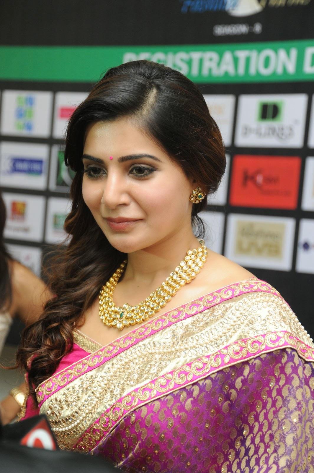 Samantha gorgeous photos in saree-HQ-Photo-3