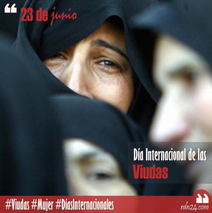 23 de junio – Día Internacional de las Viudas #DíasInternacionales