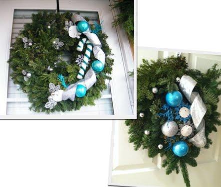 Christmas balls wreath