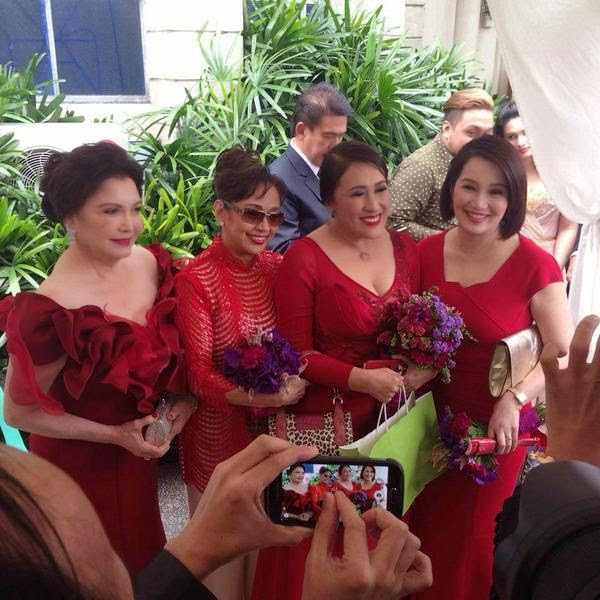 Spotted: Aiai Delas Alas and Kris Aquino, side by side at DongYan Wedding