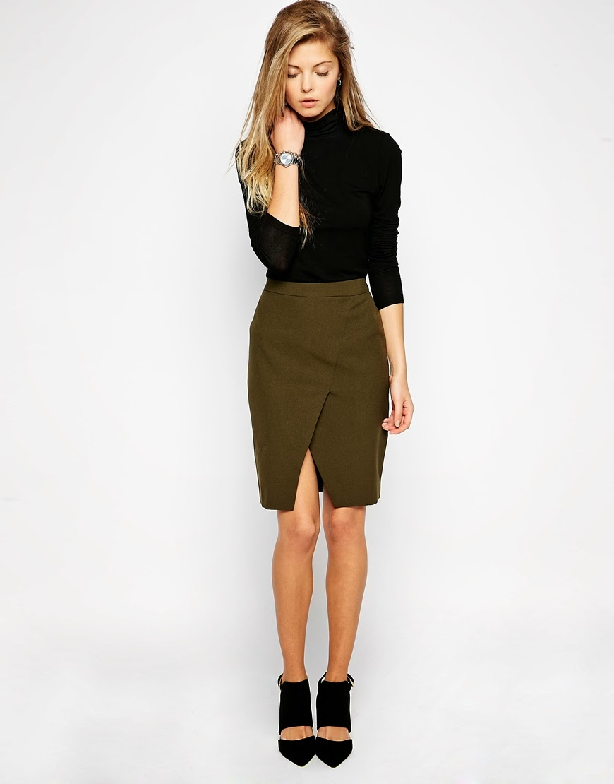 green wrap skirt